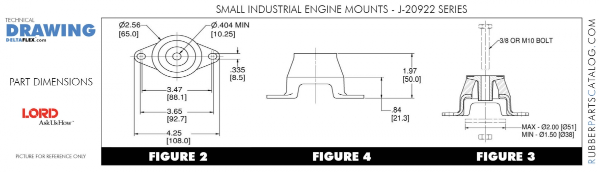 LORD SMALL ENGINE MOUNTS – Industrial Engine Diagram