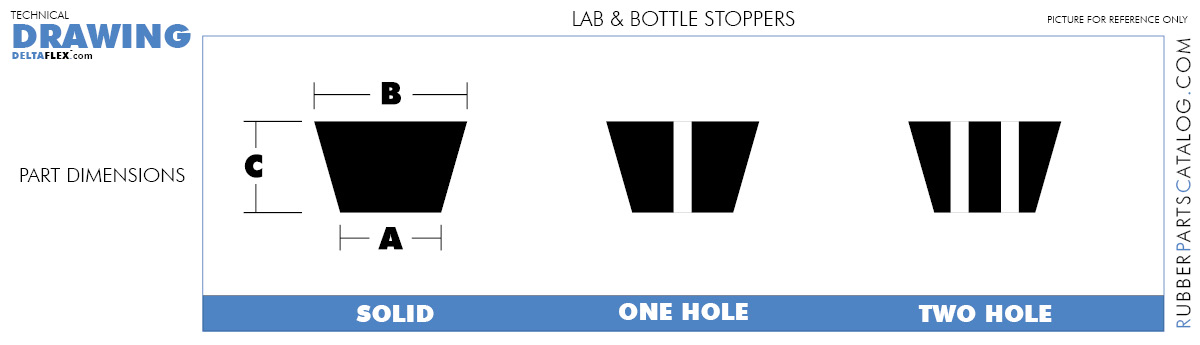 RubberPartsCatalog.com Delta-Flex Rubber Silicone Lab and Bottle Stopper