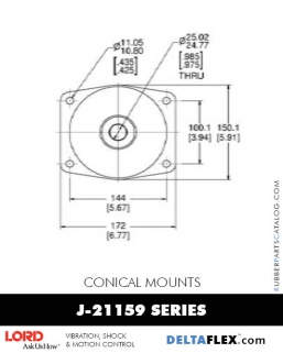 Rubber-Parts-Catalog-Delta-Flex-LORD-Conical-Mounts-J-21159-Series