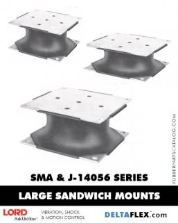 Rubber-Parts-Catalog-Delta-Flex-LORD-Flex-Bolt-LARGE-Sandwich-Mounts-SMA-J-14056-SERIES
