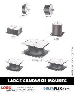 Rubber-Parts-Catalog-Delta-Flex-LORD-Corporation-Flex-Bolt-LARGE-Sandwich-Mounts