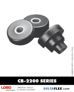 LORD CB-2200 Series - Two Piece Rubber Mount