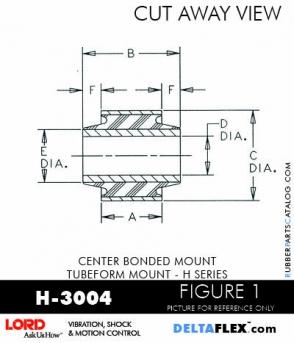 Rubber-Parts-Catalog-Delta-Flex-LORD-Corporation-Vibration-Control-Center-Bonded-Mounts-H-3004
