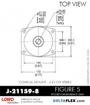 Rubber-Parts-Catalog-Delta-Flex-LORD-Corporation-Conical-Mount-J-21159-8