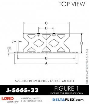 RUBBER-PARTS-CATALOG-DELTA-FLEX-LORD-CORPORATION-VIBRATION-ISOLATER-Machinery-Mounts-LATTICE-MOUNT-RUBBER-PARTS-CATALOG-DELTA-FLEX-LORD-CORPORATION-VIBRATION-ISOLATER-Machinery-Mounts-LATTICE-MOUNT-J-5665-33