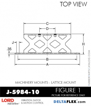 RUBBER-PARTS-CATALOG-DELTA-FLEX-LORD-CORPORATION-VIBRATION-ISOLATER-Machinery-Mounts-LATTICE-MOUNT-J-5984-10