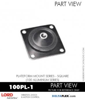 RUBBER-PARTS-CATALOG-DELTAFLEX-Vibration-Isolator-LORD-Corporation-PLATEFORM-MOUNT-SERIES-Square-100PL-1
