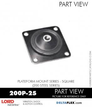 RUBBER-PARTS-CATALOG-DELTAFLEX-Vibration-Isolator-LORD-Corporation-PLATEFORM-MOUNT-SERIES-Square-200P-25