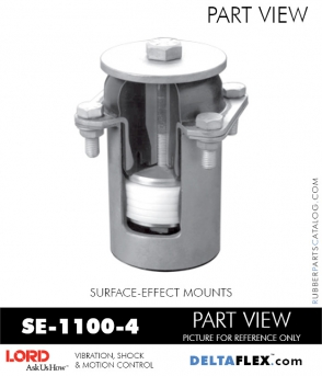 RUBBER-PARTS-CATALOG-DELTAFLEX-Vibration-Isolator-LORD-Suface-Effect-Mount-SE-1100-4