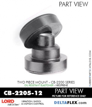 Rubber-Parts-Catalog-com-LORD-Corporation-Two-Piece-Center-Bonded-Mount-CB-2200-Series-OIL-RESISTANT-CB-2205-12