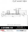 RUBBER-PARTS-CATALOG-DELTAFLEX-Vibration-Isolator-LORD-Binocular-split-Mount-J-21246-13
