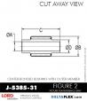 Rubber-Parts-Catalog-Delta-Flex-LORD-Bushings-Center-Bonded-Bushings-RubberPartsCatalog.com - LORD Corporation Center-Boned Bushing J-5385-31