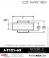 Rubber-Parts-Catalog-Delta-Flex-LORD-Bushings-Center-Bonded-Bushings-RubberPartsCatalog.com - LORD Corporation Center-Boned Bushing J-7121-63
