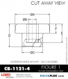 Rubber-Parts-Catalog-Delta-Flex-LORD-Corporation-Vibration-Control-Center-Bonded-Mounts-CB-1121-4