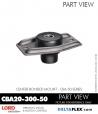 Rubber-Parts-Catalog-Delta-Flex-LORD-Corporation-Vibration-Control-Center-Bonded-Mounts-CBA20-300-50