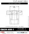 Rubber-Parts-Catalog-Delta-Flex-LORD-Corporation-Vibration-Control-Center-Bonded-Mounts-CBA24-650-1