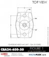 Rubber-Parts-Catalog-Delta-Flex-LORD-Corporation-Vibration-Control-Center-Bonded-Mounts-CBA24-650-50