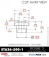 Rubber-Parts-Catalog-Delta-Flex-LORD-Corporation-Vibration-Control-Center-Bonded-Mounts-STA36-500-1