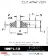 RUBBER-PARTS-CATALOG-DELTAFLEX-Vibration-Isolator-LORD-Corporation-PLATEFORM-MOUNT-SERIES-Square-100PL-12