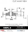 RUBBER-PARTS-CATALOG-DELTAFLEX-Vibration-Isolator-LORD-Corporation-PLATEFORM-MOUNT-SERIES-Square-100PL-6