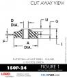 RUBBER-PARTS-CATALOG-DELTAFLEX-Vibration-Isolator-LORD-Corporation-PLATEFORM-MOUNT-SERIES-Square-150P-24