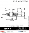 RUBBER-PARTS-CATALOG-DELTAFLEX-Vibration-Isolator-LORD-Corporation-PLATEFORM-MOUNT-SERIES-Square-150P-6