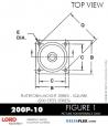 RUBBER-PARTS-CATALOG-DELTAFLEX-Vibration-Isolator-LORD-Corporation-PLATEFORM-MOUNT-SERIES-Square-200P-10