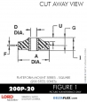 RUBBER-PARTS-CATALOG-DELTAFLEX-Vibration-Isolator-LORD-Corporation-PLATEFORM-MOUNT-SERIES-Square-200P-20