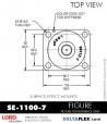RUBBER-PARTS-CATALOG-DELTAFLEX-Vibration-Isolator-LORD-Suface-Effect-Mount-SE-1100-7