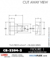 Rubber-Parts-Catalog-Delta-Flex-LORD-Corporation-Two-piece-mount-cb-2200-series-CB-2204-2