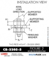 Rubber-Parts-Catalog-Delta-Flex-LORD-Corporation-Two-piece-mount-cb-2200-series-CB-2205-5