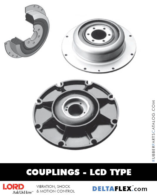LORD DYNAFLEX LCD Rubber Driveline Coupling